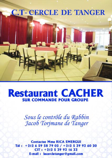 Réouverture du restaurant Cacher