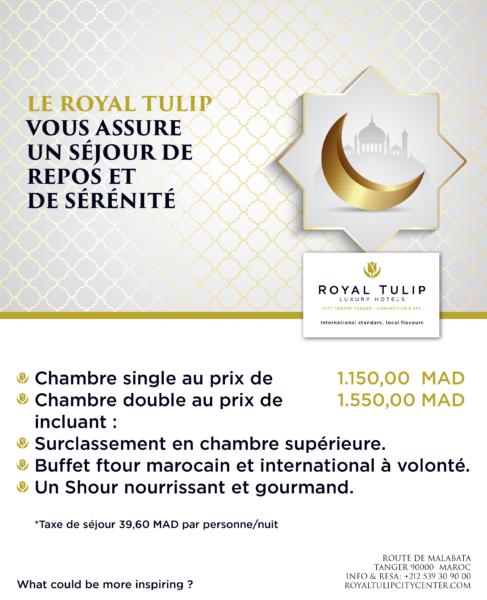 Repos et sérénité au Royal Tulip